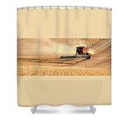 Harvesting Wheat 1336 Shower Curtain