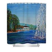 Harveston Lake Fountain Shower Curtain