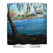 Harveston Lake Geese Shower Curtain