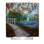 Harveston Lake Path Shower Curtain