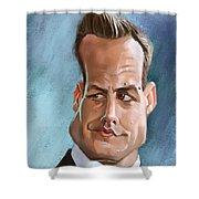 Harvey specter painting by arie van der wijst harvey specter shower curtain bookmarktalkfo Image collections