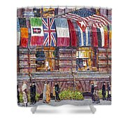 Hassam: Allied Flags, 1917 Shower Curtain
