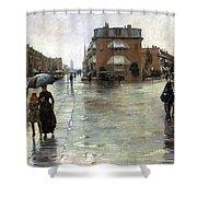 Hassam: Rainy Boston, 1885 Shower Curtain