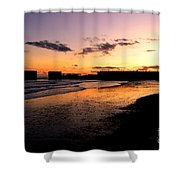 Hastings Harbour Arm At Sunset Shower Curtain