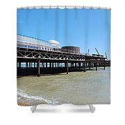 Hastings Pier, East Sussex Shower Curtain