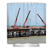 Hastings Pier, England Shower Curtain