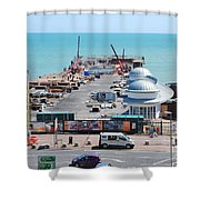 Hastings Pier Rebuild Shower Curtain