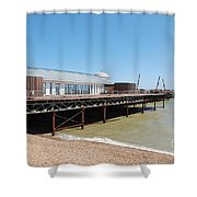 Hastings Pier Renovation Shower Curtain