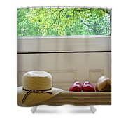 Hat And Clogs Shower Curtain