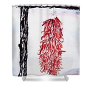 Hatch Texas Chili Pepper Painting Shower Curtain
