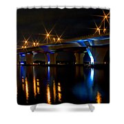 Hathaway Bridge At Night Shower Curtain