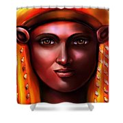 Hathor- The Goddess Shower Curtain by Carmen Cordova