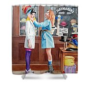 Hatmakers Shower Curtain