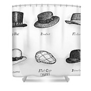 Hats Of A Gentleman Shower Curtain by Adam Zebediah Joseph