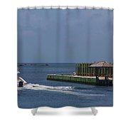Hatteras Dock And Boat Shower Curtain
