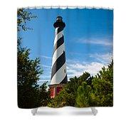 Hatteras Lighthouse Standing Guard Shower Curtain