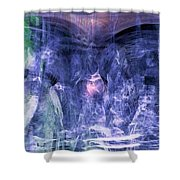 Haunted Caves Shower Curtain by Linda Sannuti