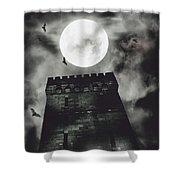 Haunted Dark Castle Shower Curtain