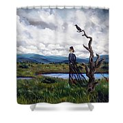 Haunted Desolation Shower Curtain