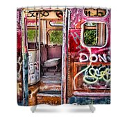 Haunted Graffiti Art Bus Shower Curtain