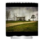Haunted House On A Hill Shower Curtain