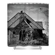 Haunted School House Shower Curtain