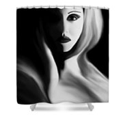 Haunted - Self Portrait Shower Curtain