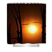 Haunting Sunrise Shower Curtain