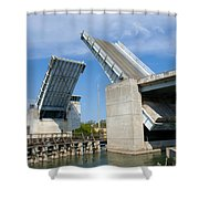 Hauover Canal In Florida Shower Curtain