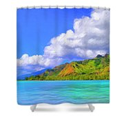 Hauru Point Moorea Shower Curtain