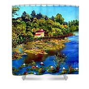 Hause By The Lake Shower Curtain
