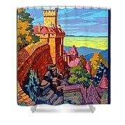 Haut Koenigsburg Castle, Alsace, France Shower Curtain