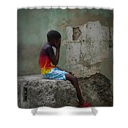 Havana Boy Shower Curtain