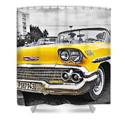 Havana Chevy Dreams  Shower Curtain