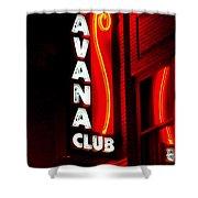 Havana Club At Night Shower Curtain
