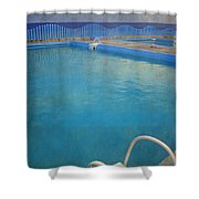 Havana Cuba Swimming Pool And Ocean Shower Curtain