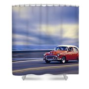 Havana Malecon Shower Curtain