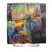 Havana Market Artwork Shower Curtain