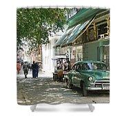 Havana Streets 1 Shower Curtain