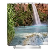 Havasu Falls Travertine Ledge Shower Curtain