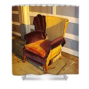 Have A Seat In Dore Alley Shower Curtain by Mr Photojimsf