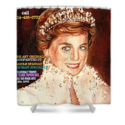 Have Your Portrait Painted Contact Carole Spandau 30 Years Experience Shower Curtain