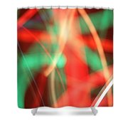 Have Yourself An Abstract Little Christmas Shower Curtain