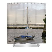 Haven. Smooth Water. Shower Curtain