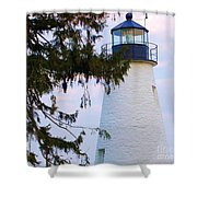 Havre De Grace Lighthouse Shower Curtain