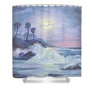 Hawaii At Night Shower Curtain