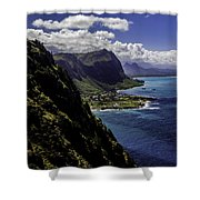 Hawaii Coastline Shower Curtain