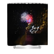 Hawaii Fireworks Shower Curtain