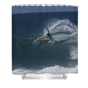 Hawaii Pipeline Shower Curtain