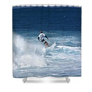 Hawaii Pipeline Surfer Shower Curtain